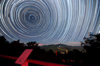 Startrails over Mt. Fowlkes